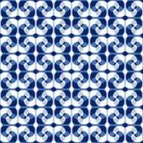 Seamless swirl pattern. Seamless blue abstract swirl pattern Stock Image