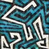 Seamless Blue Aztec background Royalty Free Stock Photography