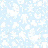Seamless Blue Baby Background Royalty Free Stock Photo