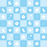 Seamless blue baby pattern Stock Photo