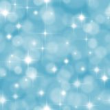 Seamless blue background with boke and stars Stock Images