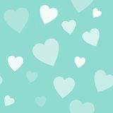 Seamless blue background with hearts Royalty Free Stock Photography