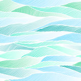 Seamless blue background with horizontal waves Stock Photo