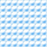 Seamless blue background made of a regular grid of connected spheres framing a soft upholstery pattern Royalty Free Stock Photos