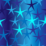 Seamless blue background with stars Royalty Free Stock Photo