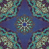 Seamless blue baroque ornament. Royalty Free Stock Image
