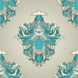 Foliate blue pattern Royalty Free Stock Photos
