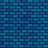 Seamless blue Brick Wall Background Texture Pattern. Vector seamless blue Brick Wall Background Texture Pattern Royalty Free Stock Photography