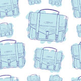 Seamless blue briefcases Royalty Free Stock Photos