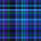 Seamless Blue Check Fabric Royalty Free Stock Images