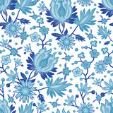 Seamless blue china pattern Royalty Free Stock Photos