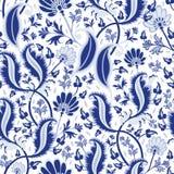 Seamless blue china pattern Stock Photography