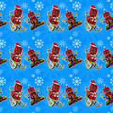 Seamless blue christmas background Royalty Free Stock Photos