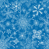 Seamless blue christmas pattern. Seamless christmas blue pattern with scattering white snowflakes (vector eps 10 vector illustration