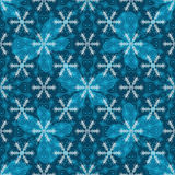 Seamless blue christmas pattern. With translucent snowflakes and butterflies, vector eps 10 Stock Photos