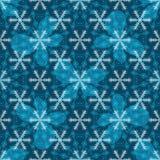 Seamless blue christmas pattern Stock Photos