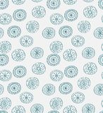 Seamless blue christmas snowflake background. For your design Stock Photo