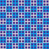 Seamless blue cube square industrial vector Stock Image