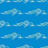 Seamless blue curling wave pattern Royalty Free Stock Image