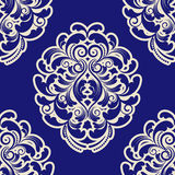 Seamless Blue Damask Royalty Free Stock Images