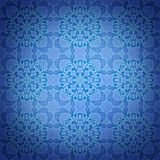 Seamless blue damask pattern background Stock Photos