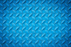 Seamless blue diamond steel plate texture Stock Photos