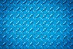 Seamless blue diamond steel plate texture Stock Photos