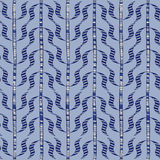 Seamless blue doodle sprigs. Royalty Free Stock Image