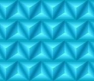 Seamless blue ethno pattern with 3D geometric shapes. Vector texture for your design Stock Photography