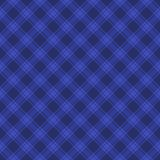 Seamless Blue Fabric Tartan Background. Vector Royalty Free Stock Photography