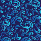 Seamless blue floral background royalty free illustration
