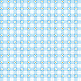 Seamless blue floral gingham background Stock Images