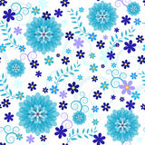Seamless blue floral pattern Royalty Free Stock Image