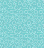 Seamless blue floral pattern Stock Photography