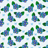 Seamless blue floral pattern Royalty Free Stock Images