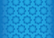 Seamless Blue Floral Pattern Design Vector Background Stock Photography