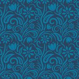 Seamless blue floral  pattern,  vector. Endless texture can be used for wallpaper, pattern fills, web page  background,  surface t Stock Image
