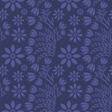 Seamless blue floral  pattern,  vector. Endless texture can be used for wallpaper, pattern fills, web page  background,  surface t Royalty Free Stock Image