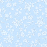 Seamless blue floral pattern. Vector illustration. Stock Photo