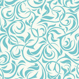 Seamless blue floral pattern. Vector illustration. Royalty Free Stock Photo