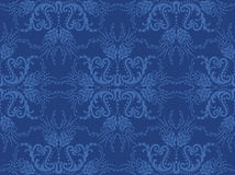 Seamless Blue Floral Wallpaper Royalty Free Stock Photos
