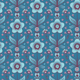 Seamless blue flower background Stock Photo