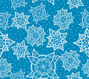 Seamless Blue Flower Pattern Royalty Free Stock Photo