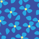 Seamless blue flower pattern background. Seamless blue flower pattern on blue background Royalty Free Stock Image