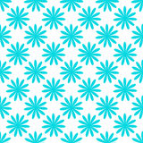 Seamless blue flower pattern. On white background Royalty Free Stock Image