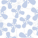 Seamless blue flower texture Royalty Free Stock Photo
