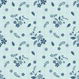Seamless blue flowers pattern .stylish texture light blue  background Royalty Free Stock Images