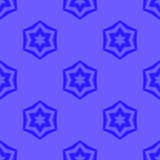Seamless Blue Geometric David Star Background Stock Photography