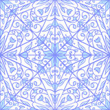 Seamless blue geometric floral pattern. Can be used for wallpape Stock Photo