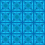 Seamless blue geometric pattern Royalty Free Stock Photos